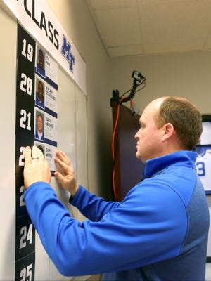 Former MTSU director of football operations Chris Matusek is now with the Tennessee Titans.