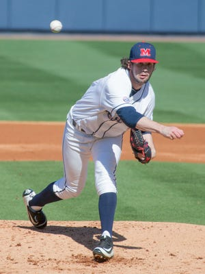 Right-hander Chad Smith will start Saturday for Ole Miss as it plays Texas A&M in the semifinals of the SEC Tournament in Hoover, Alabama.