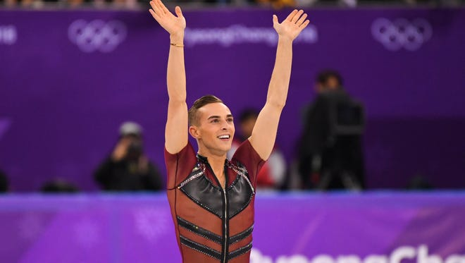 """Adam Rippon is among the U.S. Olympic skaters who'll be at the UW-Milwaukee Panther Arena May 5 with """"Stars on Ice."""""""