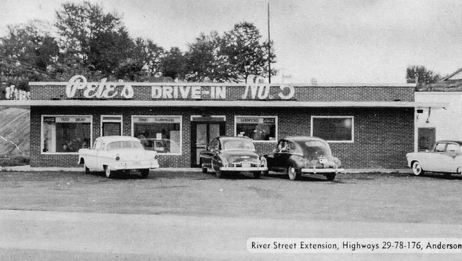 Pete's No. 5 on Shockley Ferry Road was one of Anderson's best-known eateries in the 1950s.