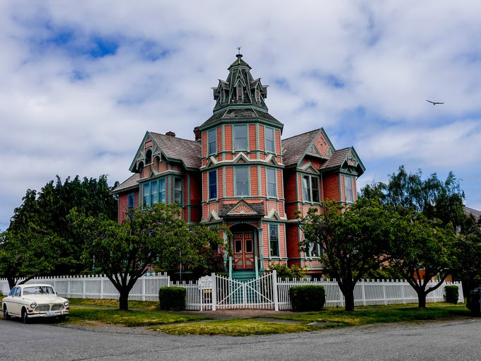 The city of Port Townsend,  lined with historic victorian