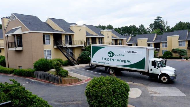 Moving trucks are there to help residents move from Chimney Hill apartment complex, that recently issued letters to all residents saying they had 30 days to evacuate. The whole complex has been shut down because of unsafe conditions.