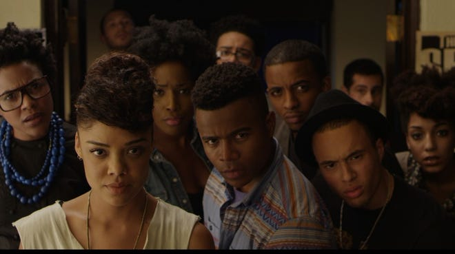 Cloaked in satire, 'Dear White People' tackles racial identity at a fictional, predominantly white Ivy League institution.