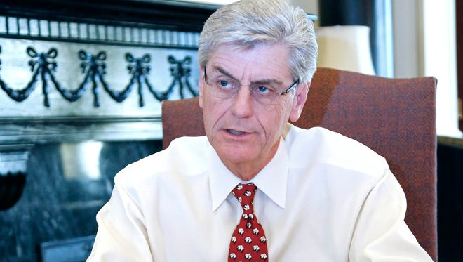 In this Dec. 18, 2013 photograph, Mississippi Gov. Phil Bryant is seen.