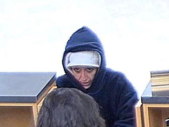Surveillance cameras caught this image of a suspected
