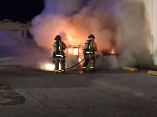 Cocoa vehicle fire