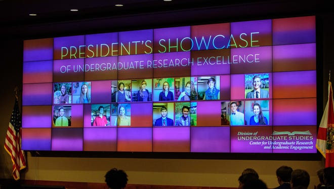 Florida State University Undergraduate Students present their research at the President's Showcase of Undergraduate Research Excellence at the Augustus B. Turnbull III Center, at Florida State University, on Tues.,  Sept. 27, in Tallahassee, FL.