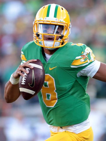 Oregon quarterback Marcus Mariota is one of the two