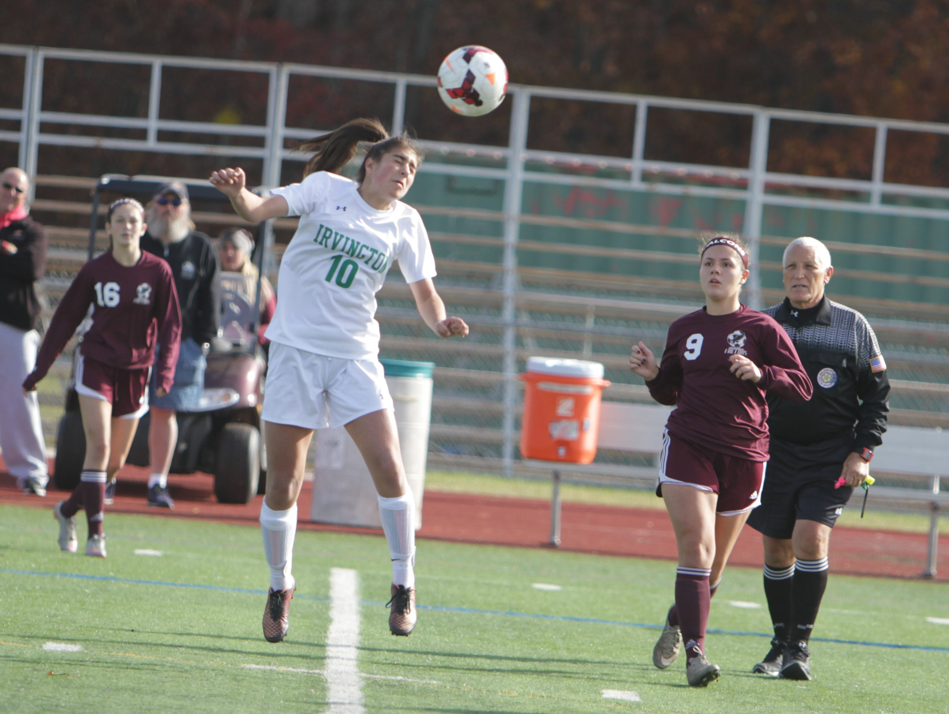 Albertus Magnus defeated Irvington 1-0 in the Section 1, Class B championship game at Arlington High School on Saturday, October 31st, 2015.