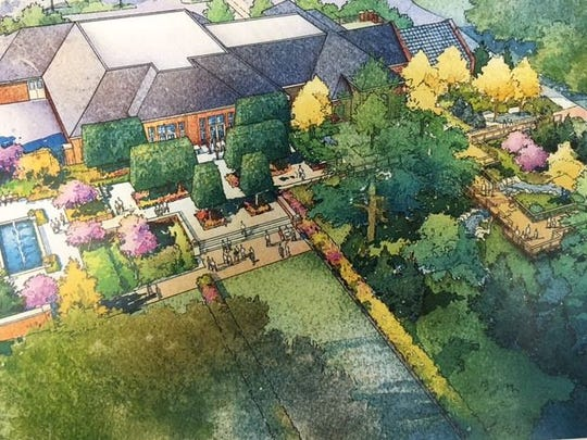 This is a rendering of the proposed Kingwood Garden Gateway Visitor Center to be constructed in 2019 at the 47-acre showplace.