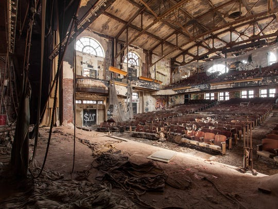 Abandoned theater in Newark, NJ