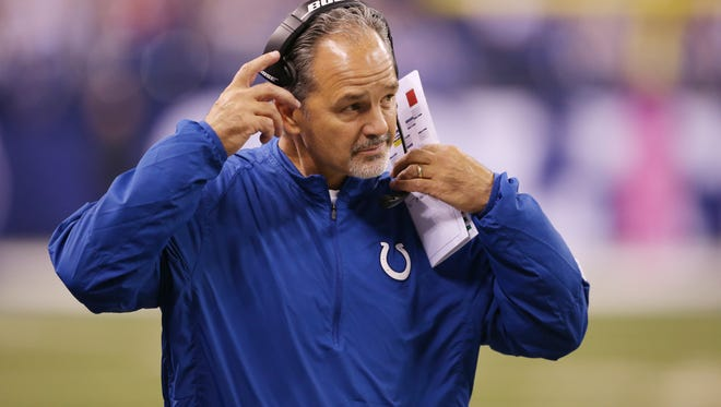 Colts head coach Chuck Pagano took the blame for the fake punt play Sunday, but it actually fell on receiver Griff Whalen.