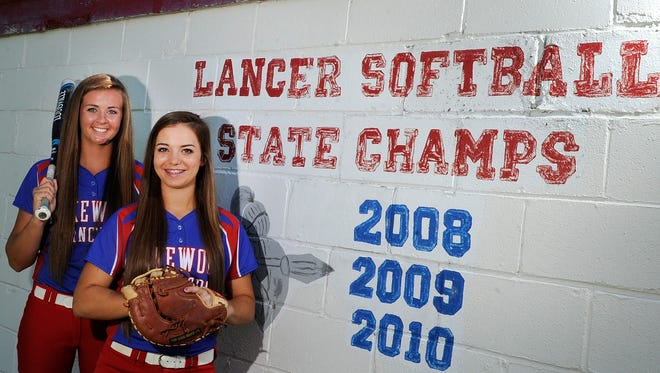 Lakewood juniors Courtney Vierstra and Brenna Brownfield are The Advocate's 2016 softball Pitcher of the Year and Player of the Year. Vierstra and Brownfield recently lead the Lancers to their fourth state title.