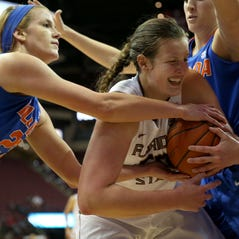Florida State's Chatrice White battles Florida's Brooke