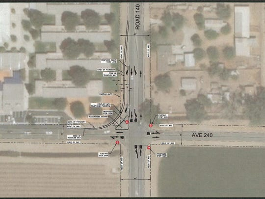 A diagram showing a four-way intersection at Sundale School.