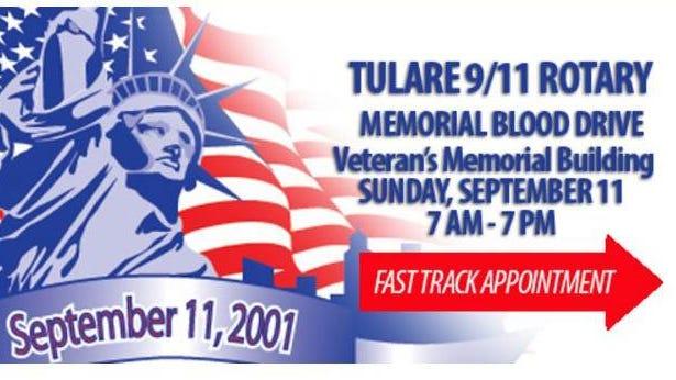 Tulare 9/11 Memorial Blood Drive.