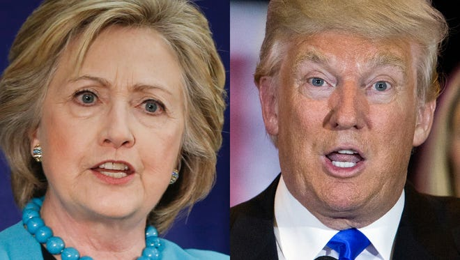 Clinton and Trump vie for president.