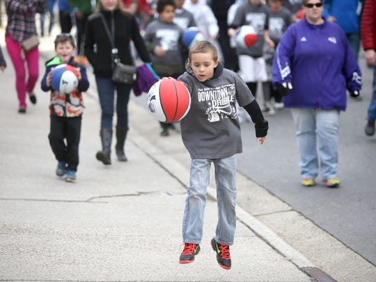Scenes from the SoCon Kids Fest and Downtown Dribble