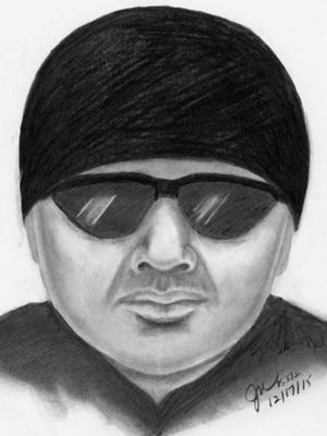 Composite sketch of a sex crimes suspect who allegedly exposed himself near Desert Willow Blvd. and Mountain View Road.