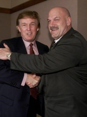 Donald Trump and then-Minnesota Gov. Jesse Ventura in 2000 in Minneapolis.