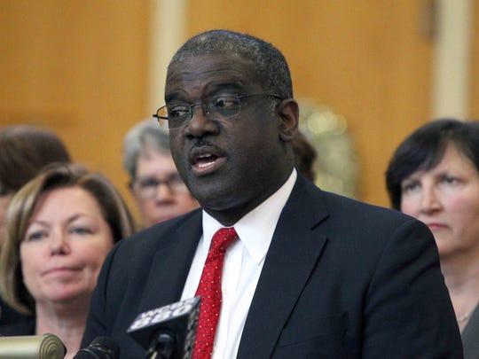 Westchester County Deputy Executive Ken Jenkins speaks