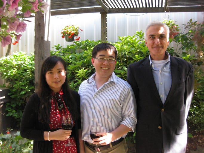 Winnie Nie, Steven Goto and Andrew Toney attend Partnerships in Community Living, Inc.'s 18th Annual Summer Solstice Benefit Auction on June 21, 2014.