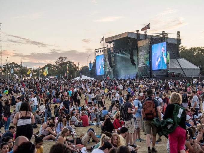Festival goers attend the Austin City Limits Music