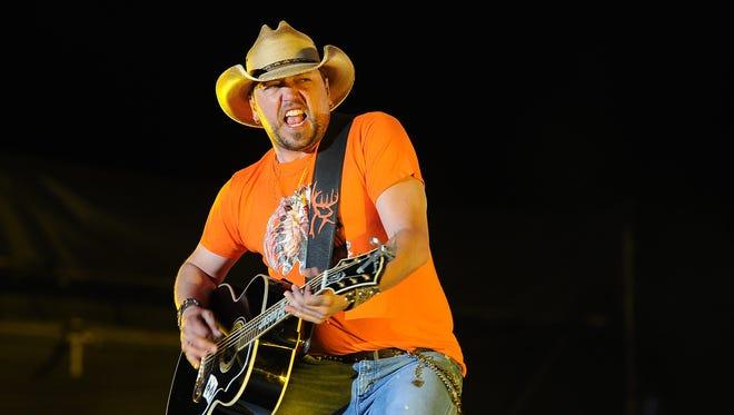 Jason Aldean performs at the 2014 Stagecoach Music Festival at the Empire Polo Field in Indio, California in 2014.