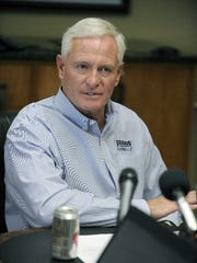 Pilot Flying J CEO Jimmy Haslam during a press conference
