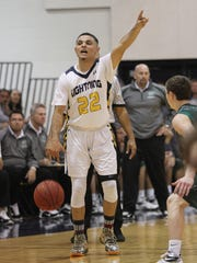 Lehigh's Abed Abu-Khadier competes during the quarterfinal championship game against Venice last week.