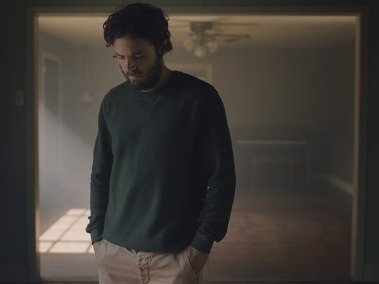 """This image released by A24 shows Casey Affleck in a scene from the film, """"A Ghost Story."""""""
