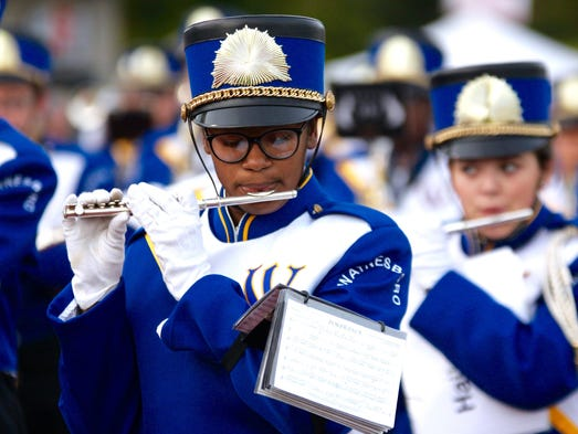 Waynesboro's marching band takes the field ahead of