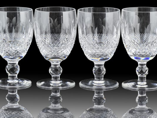 A four-piece Waterford Crystal Colleen Goblet lot.