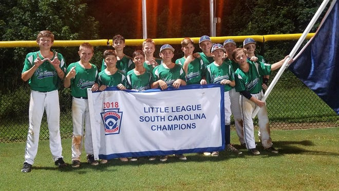 Northwood Little League's Majors team defeated Laurens 10-7 to win the state championship July 25 at Corey Burns Park in Taylors.