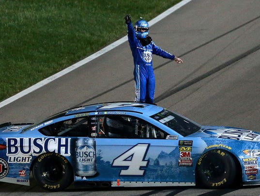Harvick-on-winning-car