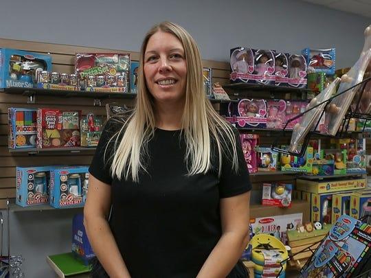 Heidi McArthur, owner of JadaBug's Kids Boutique in La Quinta, February 23, 2018.
