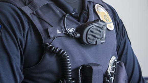 Example of a police officer's body camera.