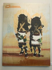 "Mateo Romero's ""Buffalo Dancers"" is featured at the"