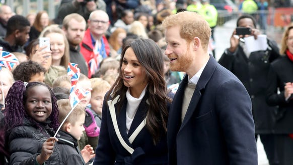 Prince Harry and Meghan Markle arrive in Birmingham,