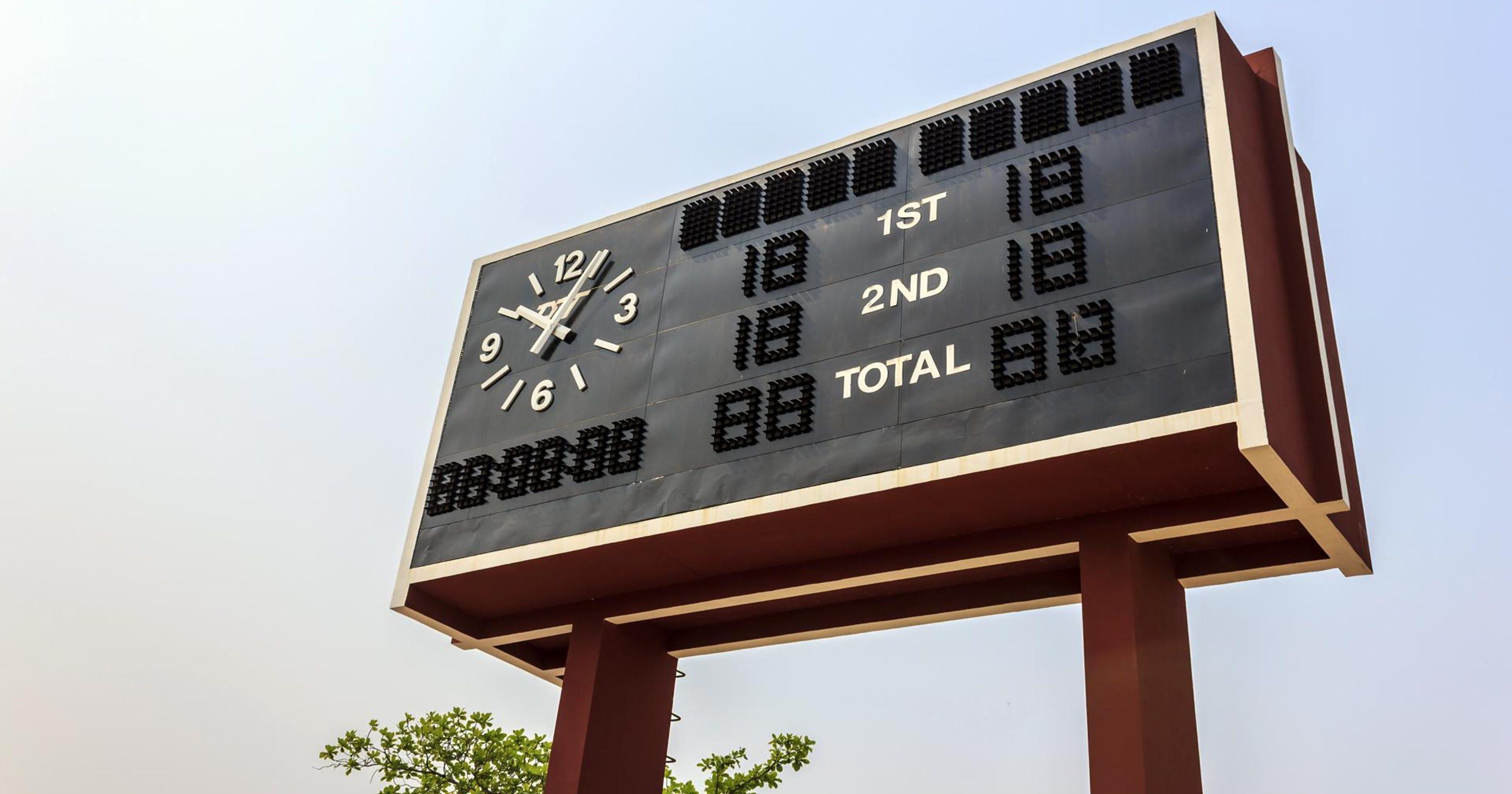 Scoreboard For April 2