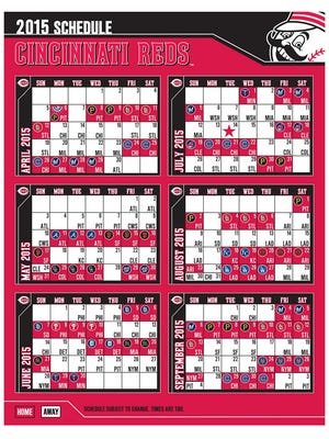 Reds' 2015 schedule
