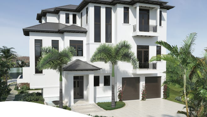 Gulfshore Homes' Casa Mare model in Sardinia on The Penisula at Miromar Lakes.