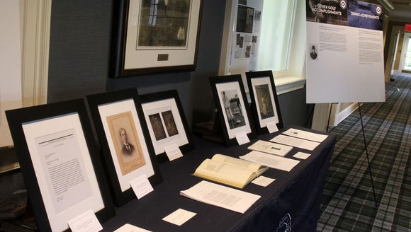A display at St. Andrew's Golf Club in Hastings honors