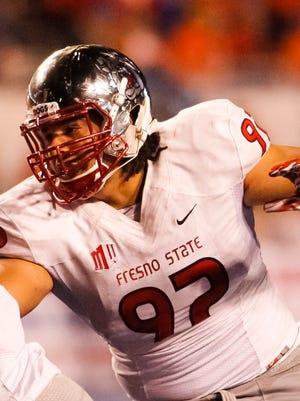 Fresno State defensive linesman Tyeler Davison