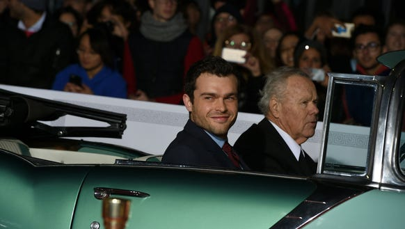 Alden Ehrenreich arrived to the premiere in style.