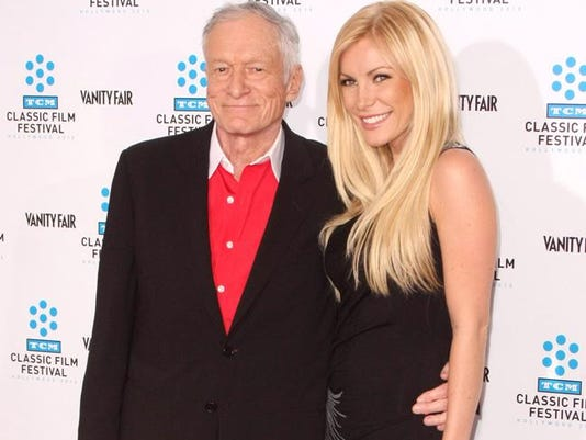 Hugh Hefner and wife Crystal