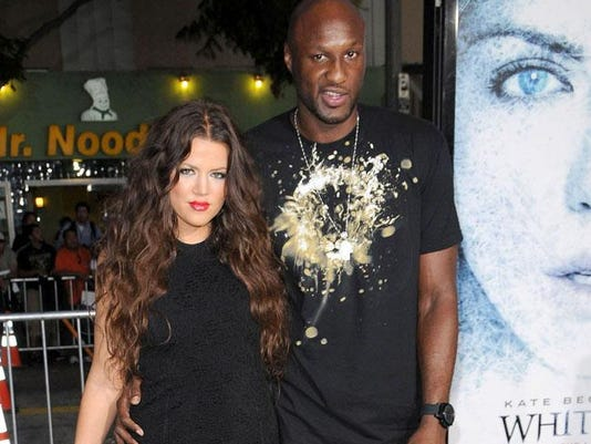 Khloé Kardashian and Lamar Odom in 2009