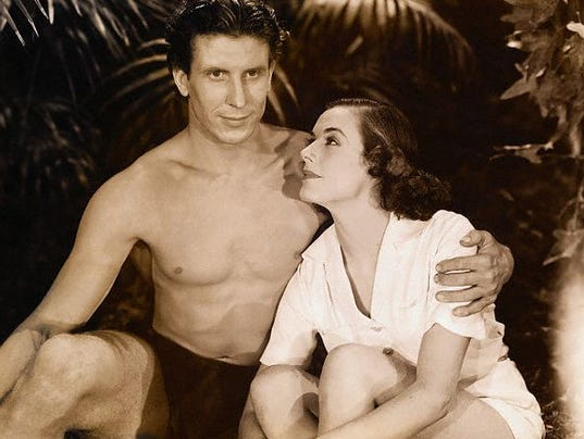 Actress Eleanor Holm with Actor Glenn Morris