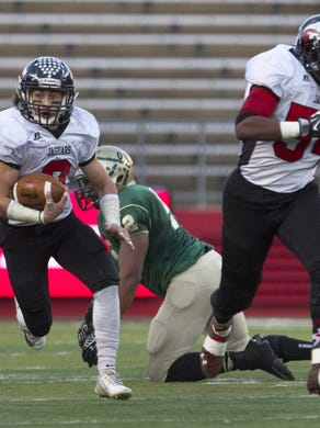 Running back/defensive back Mike Gawlik will lead Jackson Memorial's attempt to win a third consecutive NJSIAA sectional championship