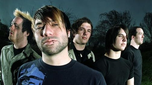 Haste the Day in 2005 (from left, Brennan Chaulk, Jimmy Ryan, Mike Murphy, Jason Barnes and Devin Chaulk).